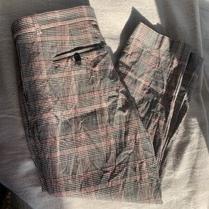 5 for $85 - Theory plaid stretchy trousers